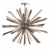Astoria Grand Starburst Chandelier | Antique Silver