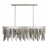 Astoria Rectangular Chandelier | Antique Silver