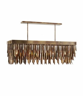 Astoria Rectangular Chandelier | Burnished Brass