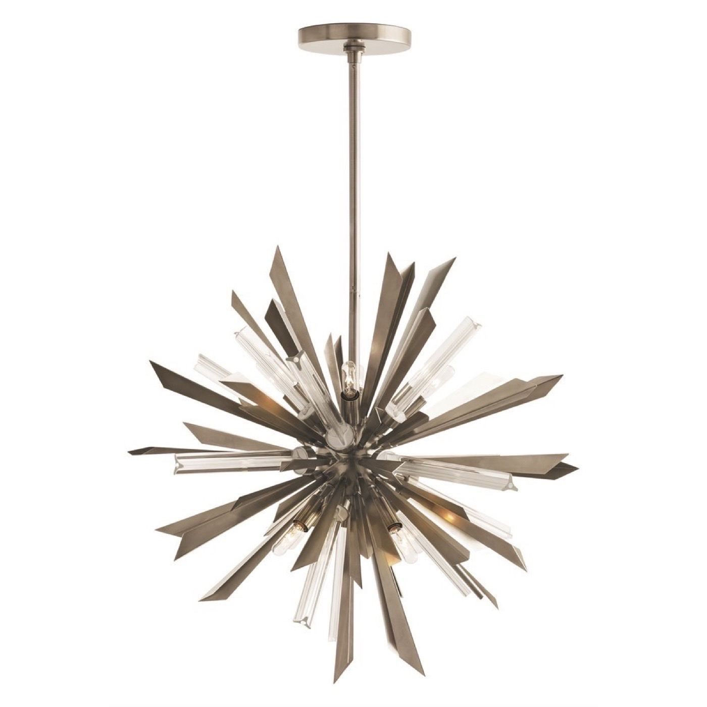 Astoria Starburst Chandelier Antique Silver