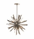 Astoria Starburst Chandelier | Antique Silver