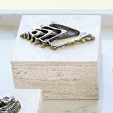 Atlantis Travertine Box | Conch