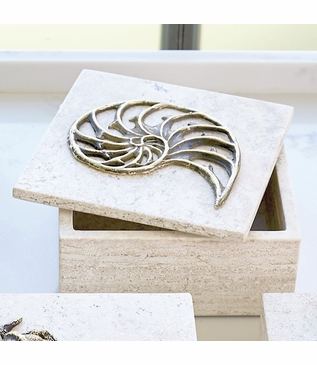 Atlantis Travertine Box | Nautilus