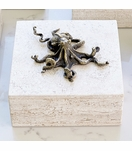 Atlantis Travertine Box | Octopus