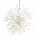 Atticus Wood Chandelier | White