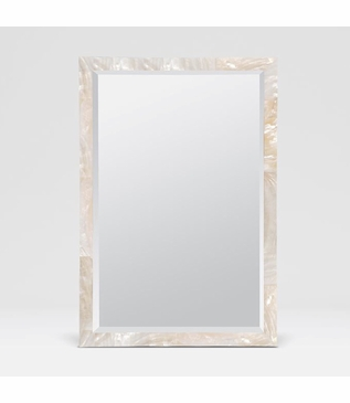 Auckland Wall Mirrors | White Shell