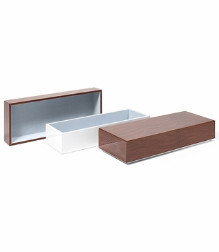 Aura Large Lacquer Box | Walnut