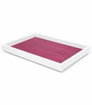 Aura Large Lacquer Tray | Magenta
