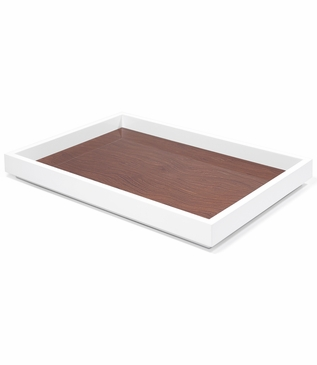Aura Large Lacquer Tray | Walnut