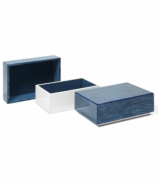 Aura Medium Lacquer Box | Aqua