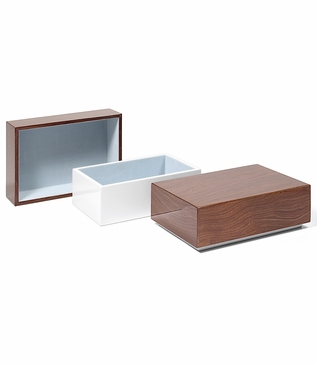 Aura Medium Lacquer Box | Walnut