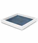 Aura Medium Lacquer Tray | Aqua
