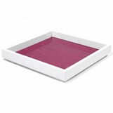Aura Medium Lacquer Tray | Magenta