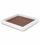 Aura Medium Lacquer Tray | Walnut