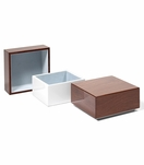 Aura Small Lacquer Box | Walnut