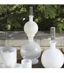 Bacchus Double Glass Decanter | White