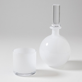 Bacchus Mini Decanter & Glass | White