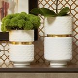 Baltic White Glass Vases