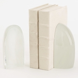 Baltoro Glass Bookends | Frosted