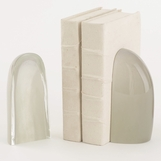 Baltoro Glass Bookends | Grey Mist