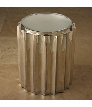 Baluster Side Table | Nickel