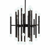 Bamboo Metal Chandelier | Bronze