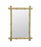 Bamboo Mirror | Polished Brass