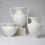 Baron Stout & Handled Vases | White