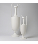Baron Tall & Handled Vases | White