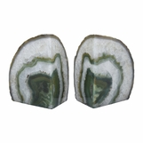 Barrick Agate Bookends | Green
