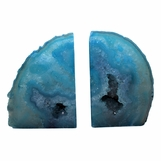 Barrick Agate Bookends   Teal