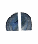 Barrick Agate Bookends | Blue w/Silver Trim