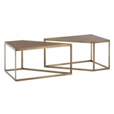 Bartlett Coffee Table Set | Brass