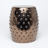 Berry Ceramic Stool | Gold