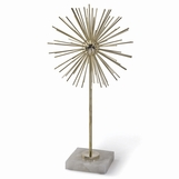Beta Tall Burst Sculpture | Brass