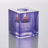 Bijou Art Glass Votive | Purple