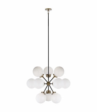 Bistro Glass Globe Chandelier | Brass