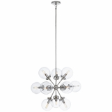Bistro Glass Globe Chandelier | Nickel