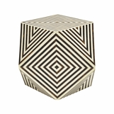 Blair Geometric Resin Stool