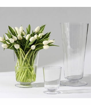 Bloomfield Vases   Clear Glass