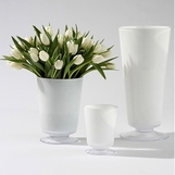 Bloomfield Vases | White Glass