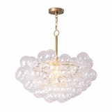 Bolle Glass Globes Chandelier | Clear & Brass