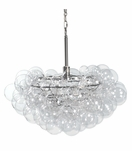 Bolle Glass Globes Chandelier | Clear & Nickel