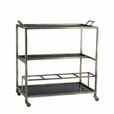 Boltan Metal Bar Cart | Grey