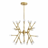Boltman Geometric Brass Chandelier