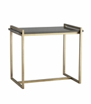 Boulangerie Side Table | Brass & Black Marble