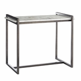 Boulangerie Side Table | Iron & White Marble