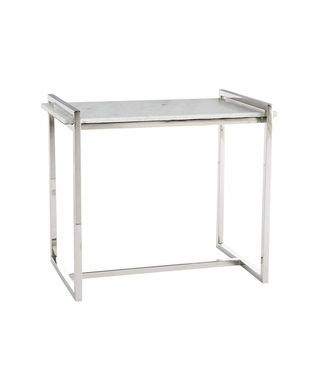 Boulangerie Side Table | Steel & White Marble