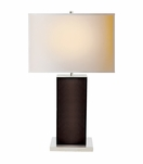 Braden Leather Lamp | Brown