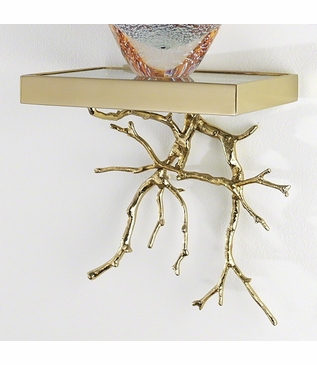 Branches Display Shelf | Brass